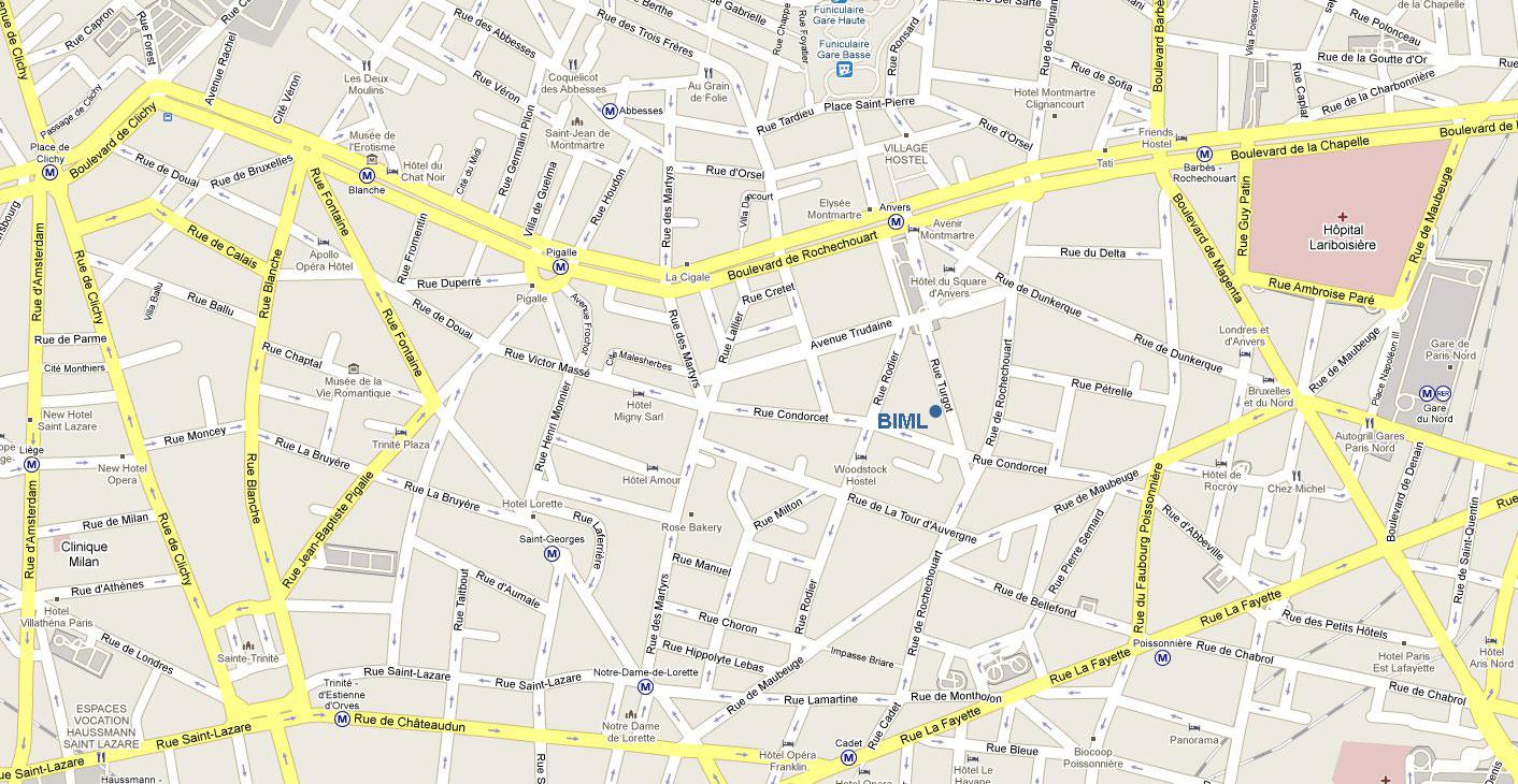 plan du 11eme arrondissement de paris - Photo